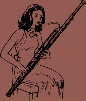 drawing-of-a-woman-playing-bassoon