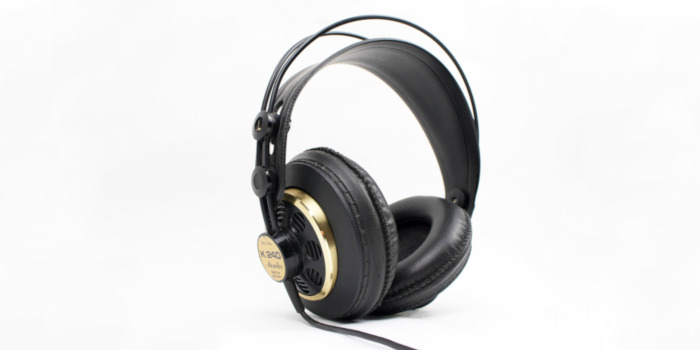 Black studio headphones
