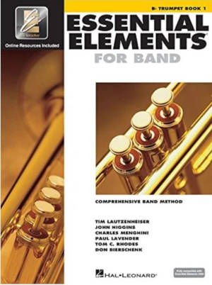 "A trumpet method book called ""Essential Elements 2000: Comprehensive Band Method: B Flat Trumpet Book 1"""