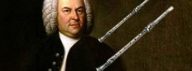 Johann Christoph Denner shown with two early clarinets