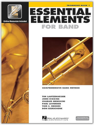 The cover of Essential Elements for Band Trombone Book 1